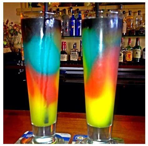 rainbow cocktail drink rainbow alcoholic drinks