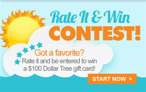 Dollar Tree E Gift Card - dollar tree you could win a 100 gift card during our rate it win contest milled
