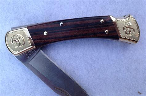 engraved buck knife buck 110 folding engraved david sheehan