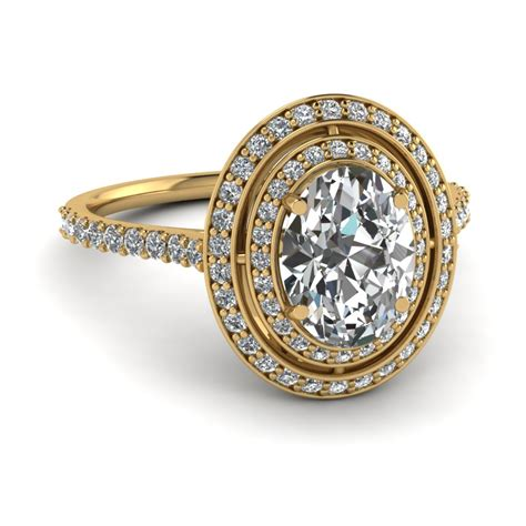 halo oval ring fascinating diamonds