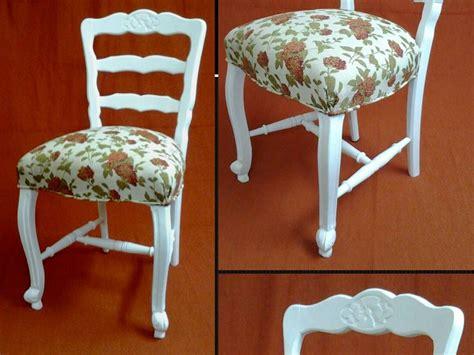 sillas estilo provenzal silla estilo provenzal en laca blanca y tapizada en