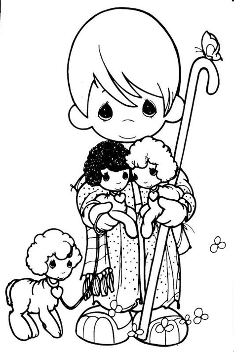 Precious Moments Coloring Pages And Psalm 23 On Pinterest Bible Precious Moment Coloring