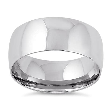 mens silver wedding band s 925 sterling silver