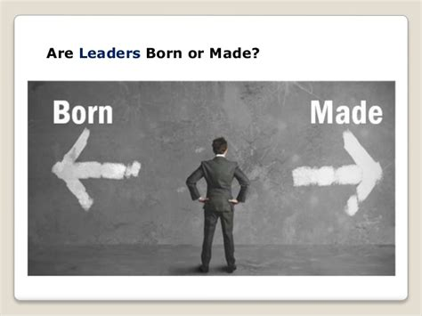 born leader definition leadership