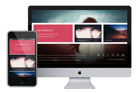 html5 responsive templates parallelism responsive html5 theme html5xcss3