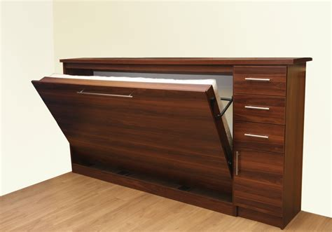 single murphy bed horizontal wall bed with storage drawers and single door