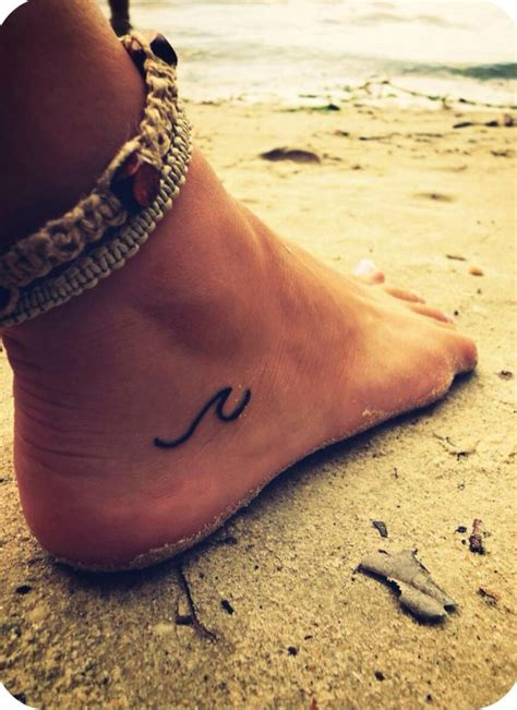 small tattoo on foot simple wave tattoos on foot www pixshark images