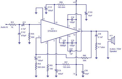 Power Lifier 60 Watt 60 watt lifier circuit based on stk4038 60 watt output into a 4 ohm speaker