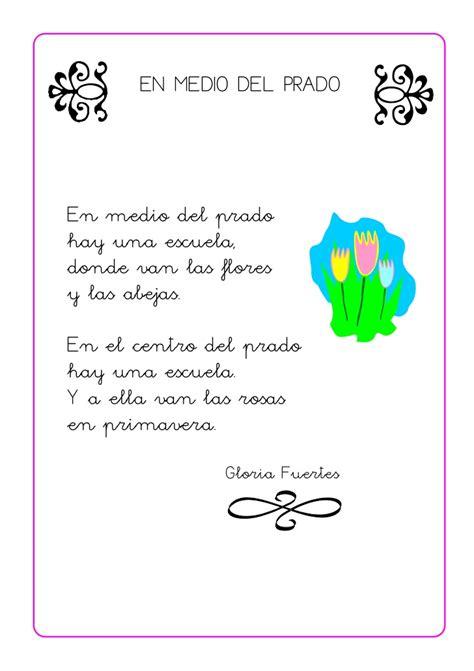 poesia alucivo a un jardin de inicial poesias infantiles