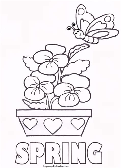 spring house coloring pages spring coloring pages printable free coloring home
