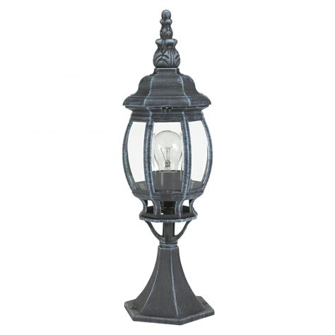 Outdoor Pedestal Lighting outdoor classic 4173 1 light pedestal in black green