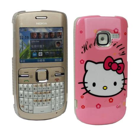 Casing Nokia C3 00 Wellcomm pink hello cover for nokia c3 c3