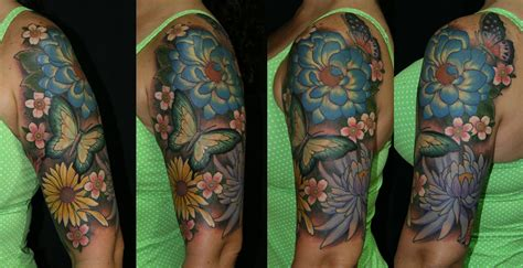 flower tattoo half sleeve designs sleeve tattoos for chris reed floral half