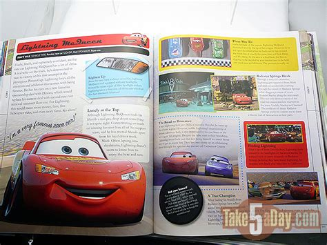 disney pixar cars the books of cars 2009 update take five a day disney pixar cars pixarpedia book review take five a day