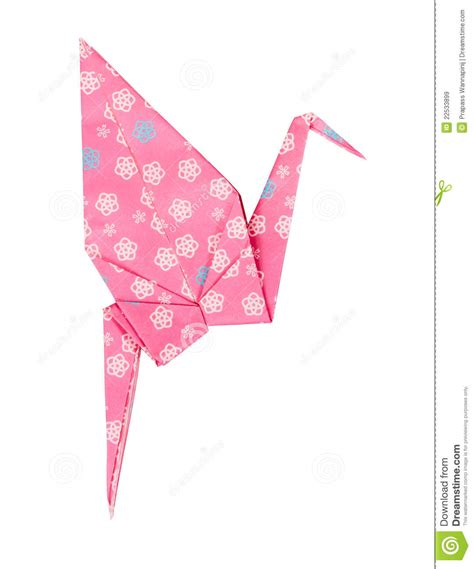Japanese Paper Crafts Free - pink japanese paper craft origami bird royalty free stock