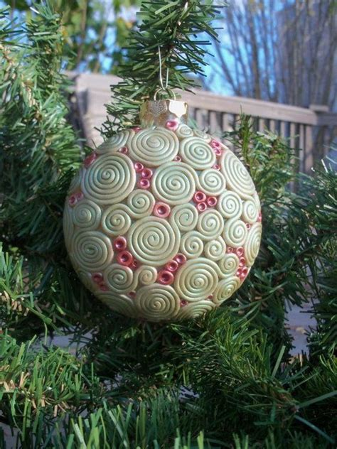 polymer clay christmas ornament by christmas tree