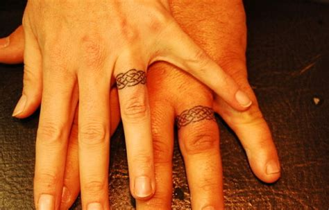 irish couple tattoos 25 slick wedding ring tattoos creativefan