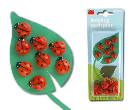 Ladybug Desk Accessories Ladybug Push Pins Totally Me