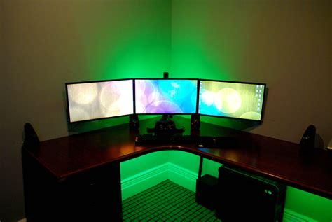 best corner desk for 3 monitors corner gaming computer desk amusing sauder made in usa