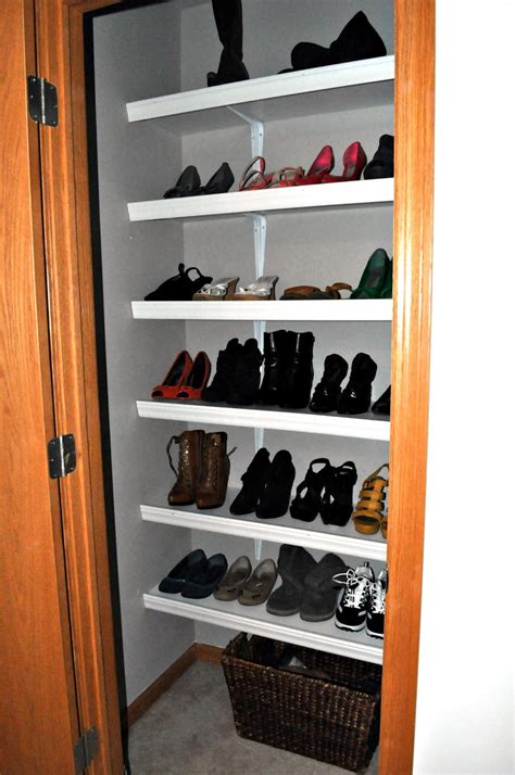 Shoes Closets by Always Chasing Diy Shoe Closet