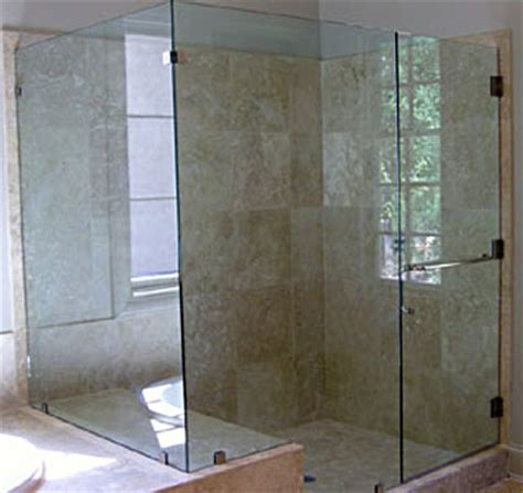 Half Glass Shower Doors Jurovich Glass Frameless Shower Door