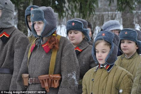 St Kidos Army putin s child soldiers trained to use machine guns daily mail