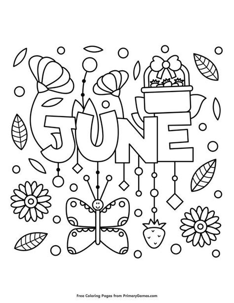 summer pictures to color summer coloring pages ebook june printable crafts for