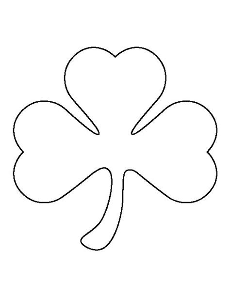 large shamrock pattern use the printable outline for