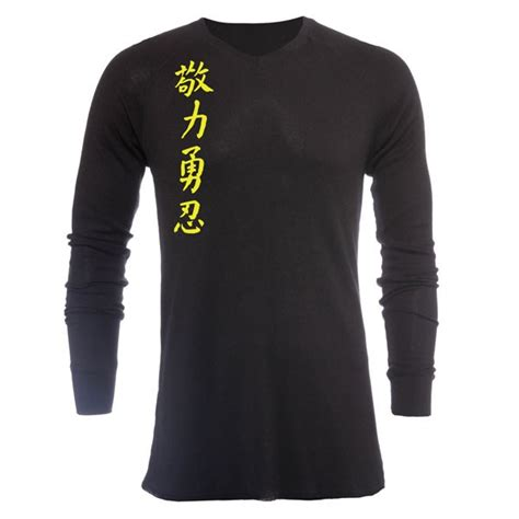 Tshirt Jaco Kanji Abu jaco kanji ii v neck thermal black sugafly yellow