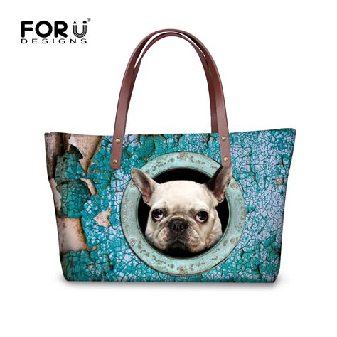 pug handbags 2016 large capacity pug handbags kawaii bulldog tote bag mujer