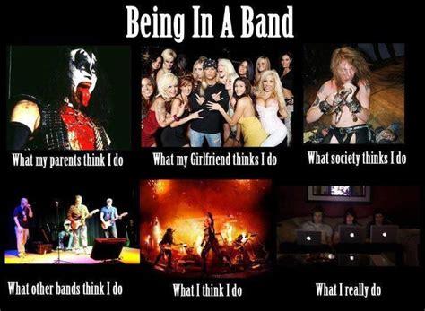 Rock Band Memes - being a rock band hot hot musica pinterest rock