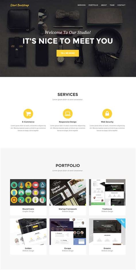 30 bootstrap website templates free download colorful start bootstrap template frieze exle resume