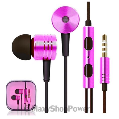 3 5mm Stereo In Ear Headphone Pink mi auricolare a filo stereo bass headphones in ear
