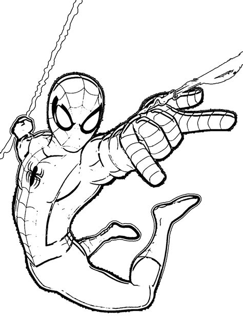 ultimate spiderman coloring pages coloringsuite com