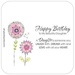 happy birthday to my beautiful daughter animated card