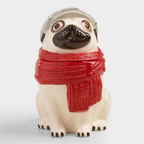world market pug cookie jar ceramic pug cookie jar world market