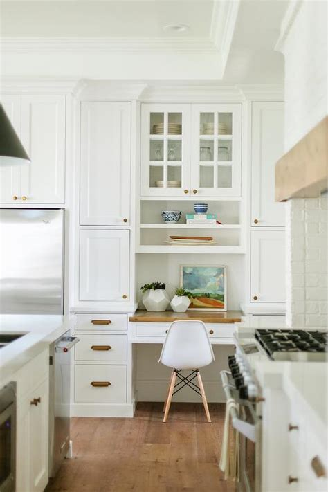 kitchen nook cabinets built in kitchen desk nook with butcher block top