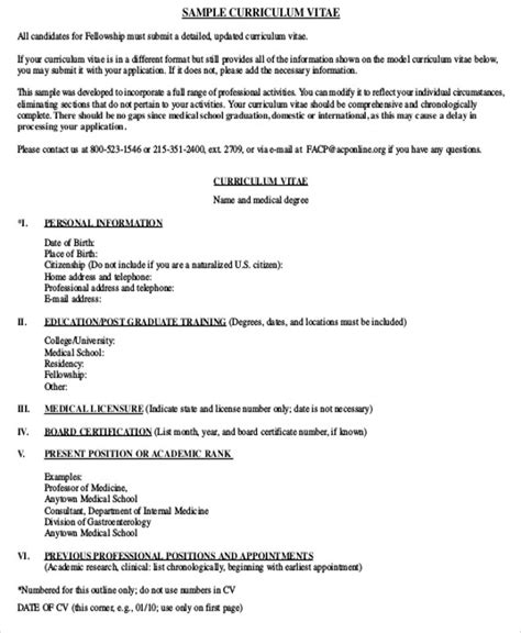 cv templates for medical students medical student cv sle 7 exles in word pdf