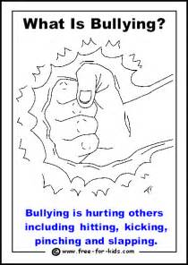 anti bullying color more printable colouring pages about bullying