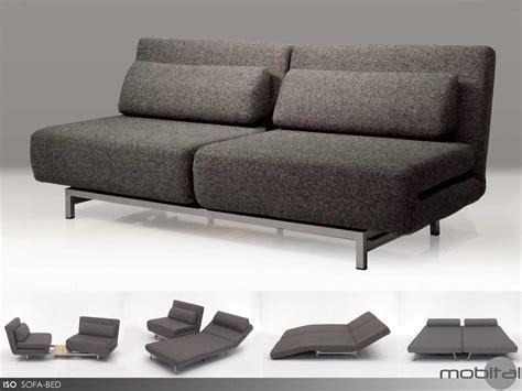 mobital iso charcoal tweed sofa bed with 2 single