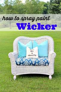 Wicker Furniture Spray Paint by How To Spray Paint Wicker Refresh Restyle