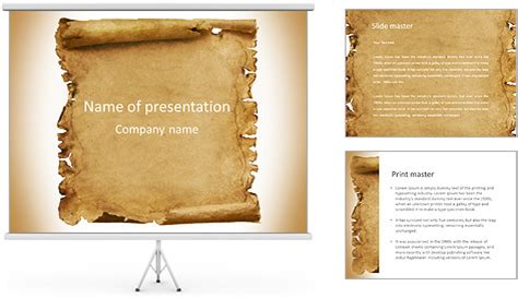 papyrus template ancient papyrus powerpoint template backgrounds id