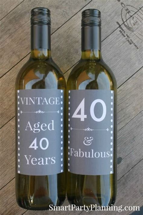 birthday drink wine 40th birthday beer wine printable labels 40 birthday