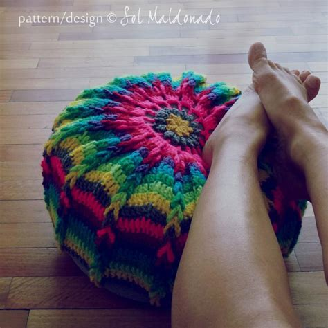 Floor Cushion Pattern by Mandala Pouf Floor By Bysol Crocheting Pattern