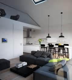 Supérieur Cuisine Moderne Ouverte Sur Salon #10: Cuisine-ouverte-salon-design-moderne-appartement-studio-mezzanine.jpg