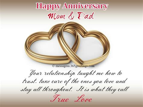Wedding Anniversary Greetings For Parents by Anniversary Messages For Parents 365greetings
