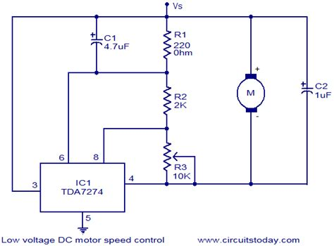 low voltage dc motor speed circuit electronic