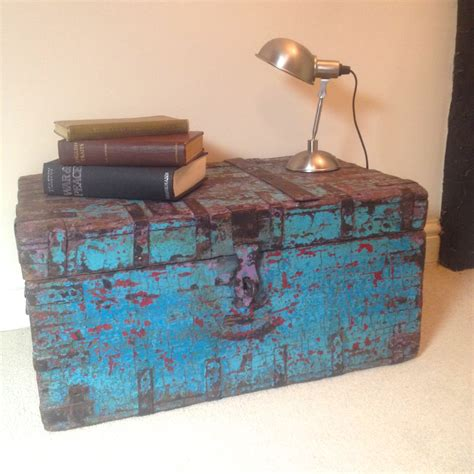 Shabby Chic Trunk Coffee Table Vintage Chest Trunk Coffee Table Reclaimed Wood Authentic Shabby Chic Haute Juice