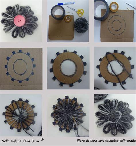 fiori di con telaio come costruirsi un telaio di cartone e realizzare fiori in