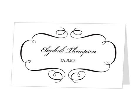10 best images of place card template ms word free place card